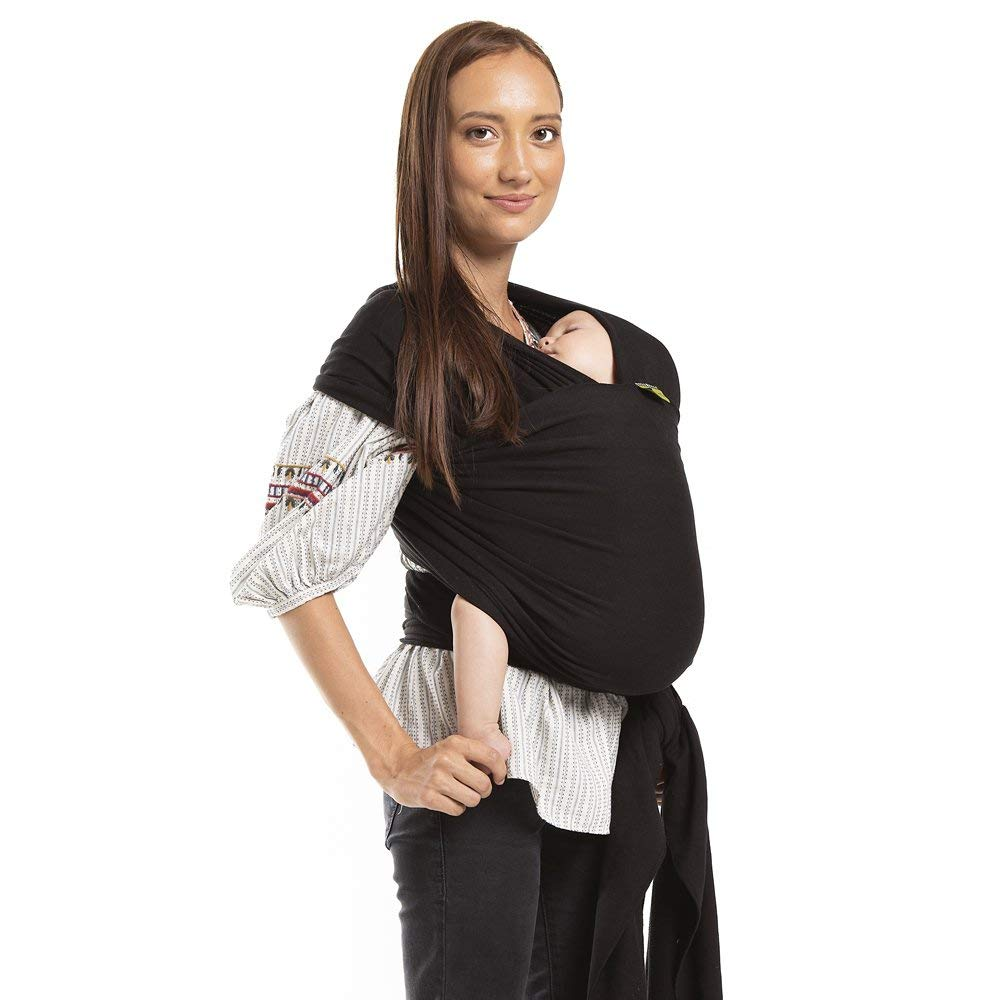 Boba Wrap Baby Carrier, Black - Original Stretchy Infant Sling, Perfect for Newborn Babies and Children up to 35 lbs