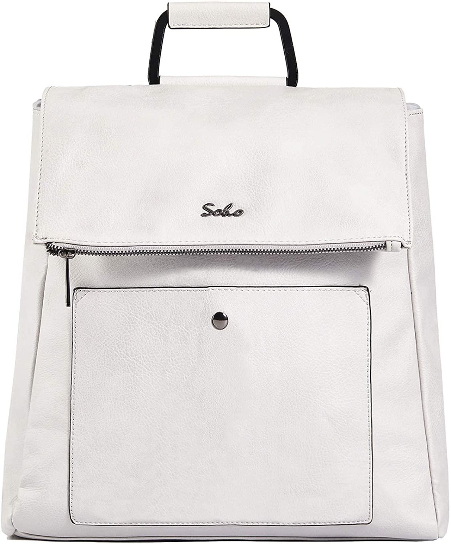 SoHo Carson Vegan Leather Diaper Bag Backpack 3Pc