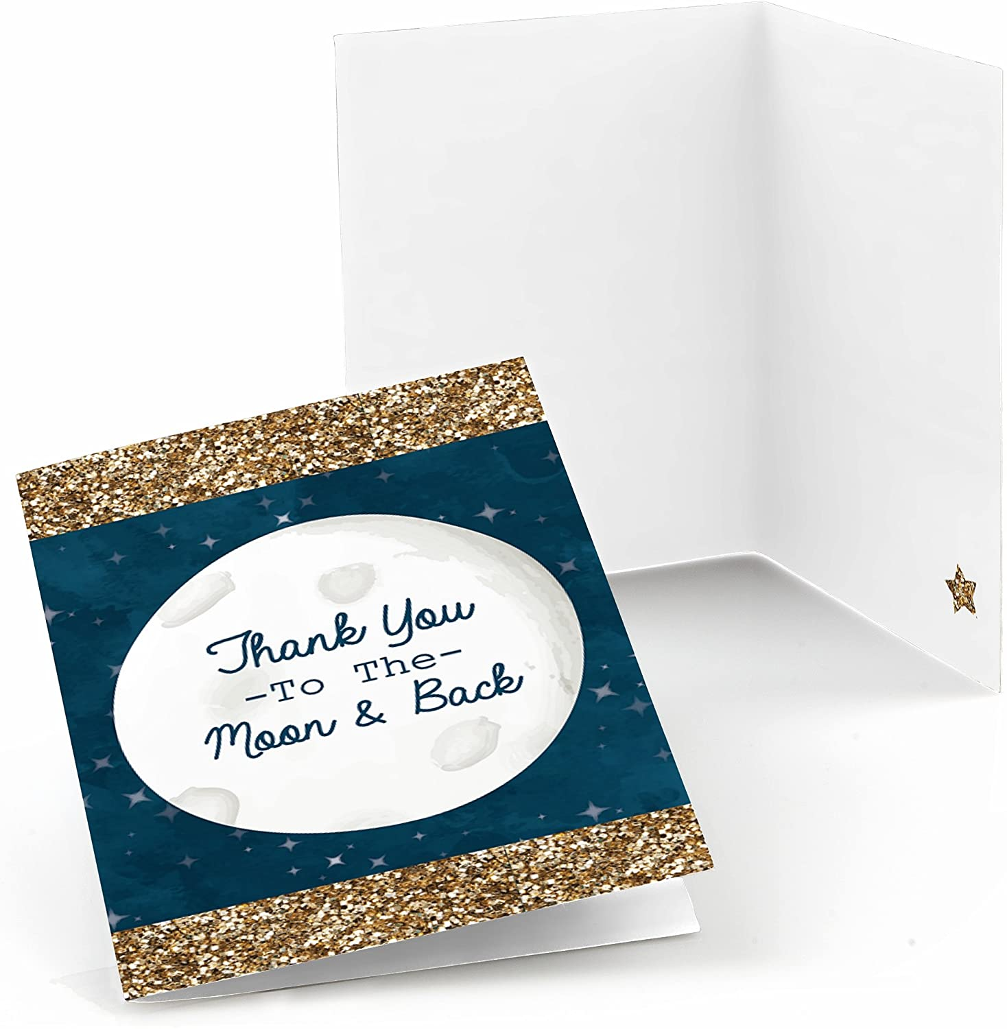 Big Dot of Happiness Twinkle Twinkle Little Star - Baby Shower or Birthday Party Thank You Cards (8 Count)