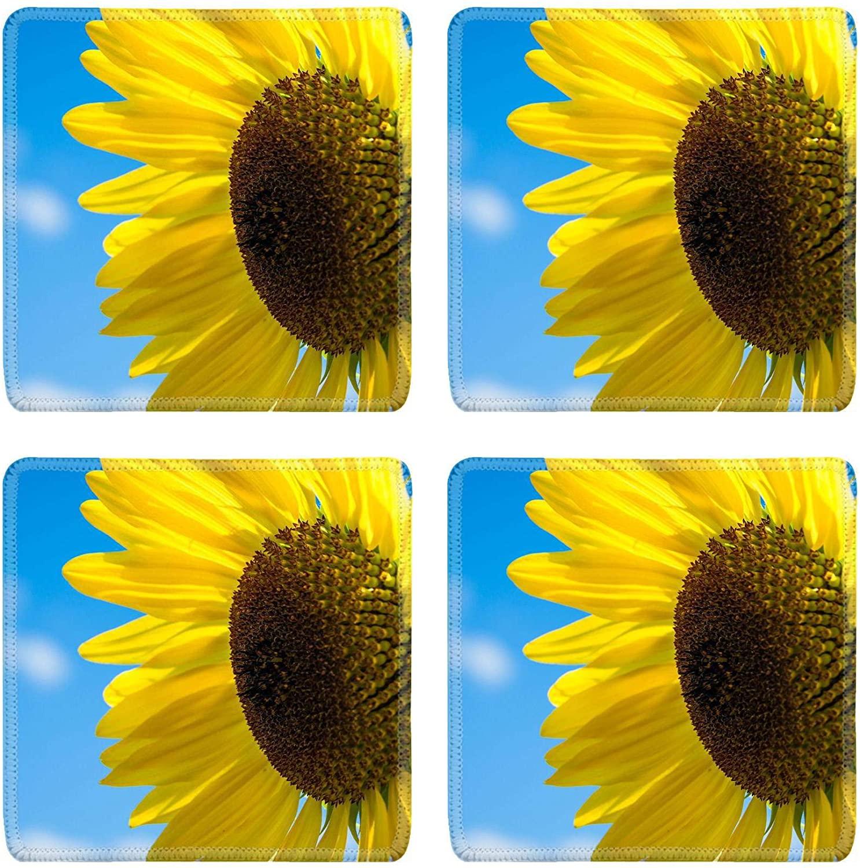 MSD Drink Coasters 4 Piece Set Image ID: 34693192 sunflower