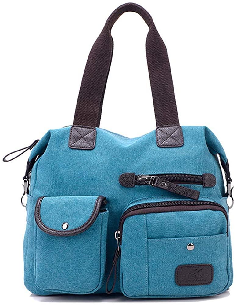 Tote Bag Shoulder Bag Travel Casual Handbag Cotton Canvas bag Roomy purse Durable Lightweight