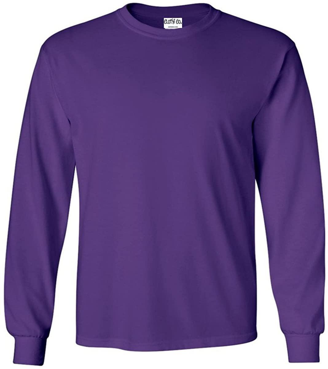 Clothe Co. Men's 100% Cotton Long Sleeve T-Shirt