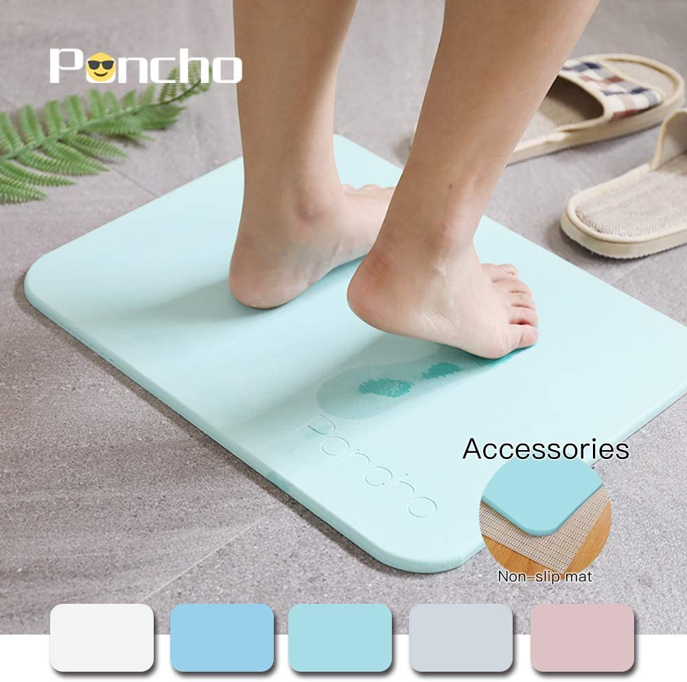 Poncho Diatomaceous Earth Bath Mat 15.8