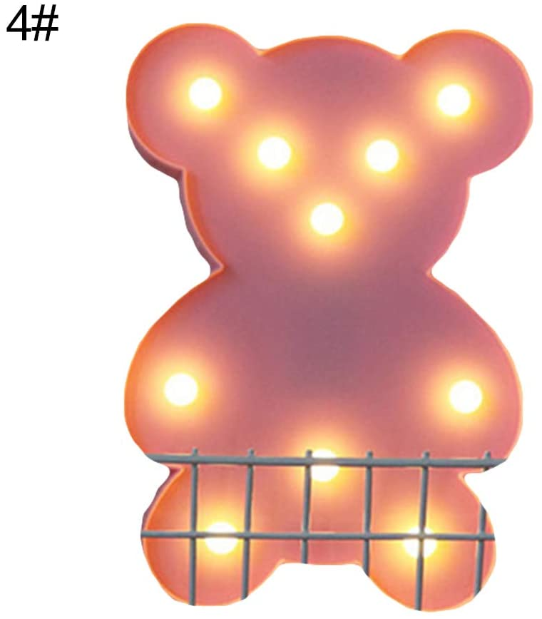 Heaven2017 Moon Star Cloud Shaped LED Night Light for Kids, Table Desk Lamp Festival Party Mood Light