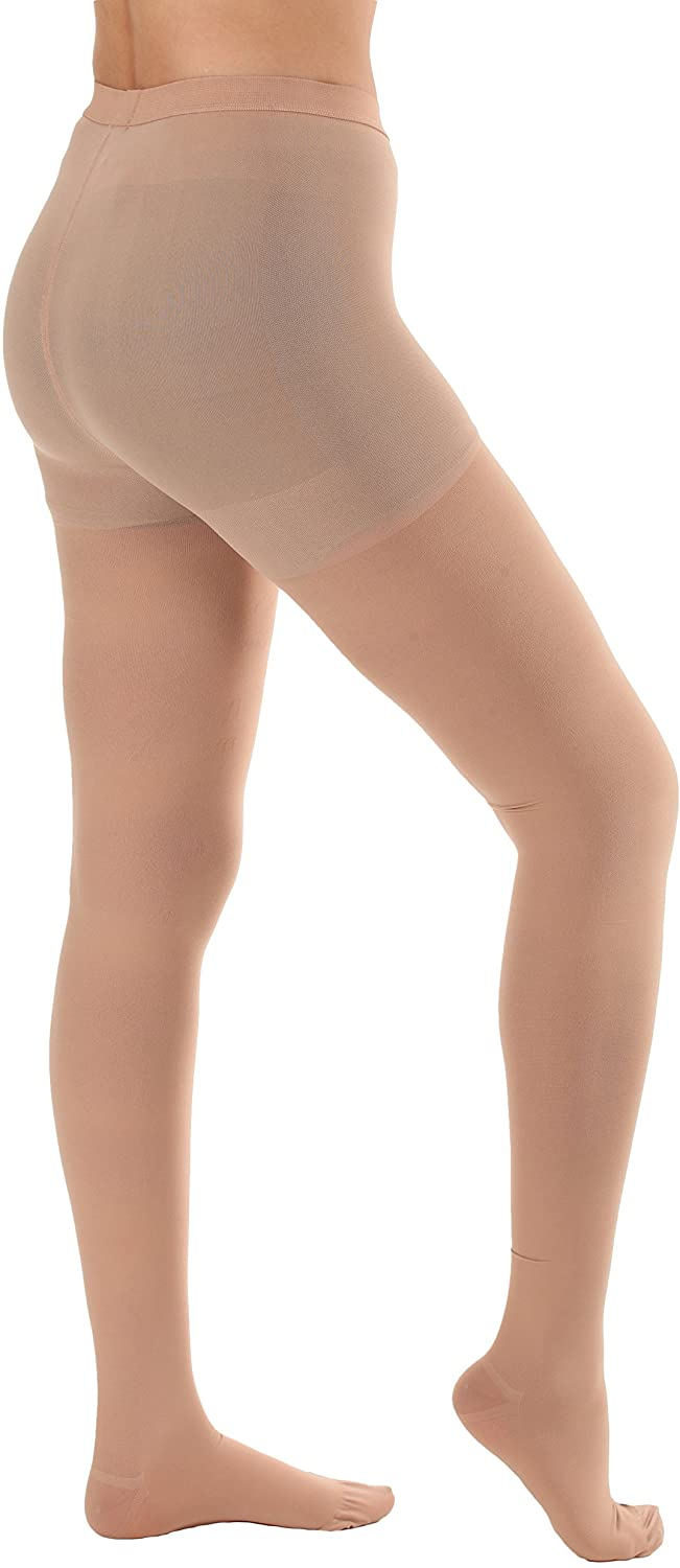 Sheer Firm Support Pantyhose 20-30mmHg - Beige, 3XL - Absolute Support- Made in USA