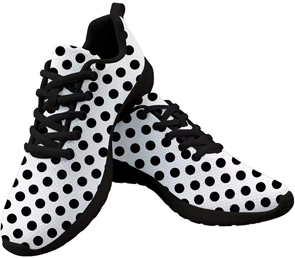 Dellukee 2019 Fashion Running Shoes Women Black Casual Non Slip Wide Width Sneakers