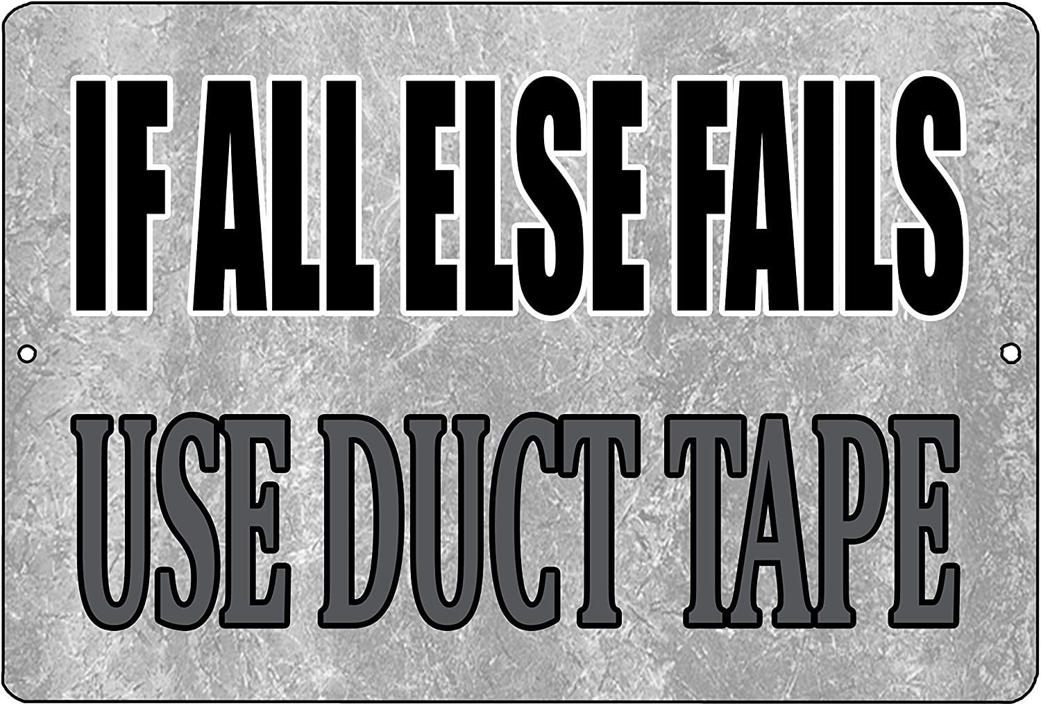 Rogue River Tactical Funny Sarcastic Metal Tin Sign Wall Decor Man Cave Bar If All Else Fails Use Duct Tape