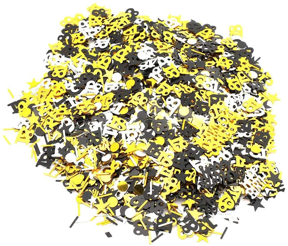 1500pcs Table Confetti Birthday Numbers Stars Decoration Supplies for Birthday Anniversary Party Decor(18)