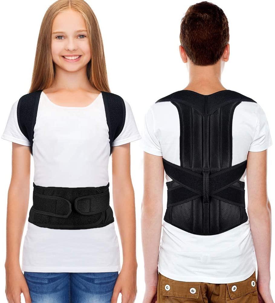 HailiCare Posture Corrector for Men and Women, Upper Back Brace for Clavicle Support, Adjustable Back Straightener Correction for Spinal, Neck, Shoulder & Full Back Pain Relief - S (Waist 24-31)