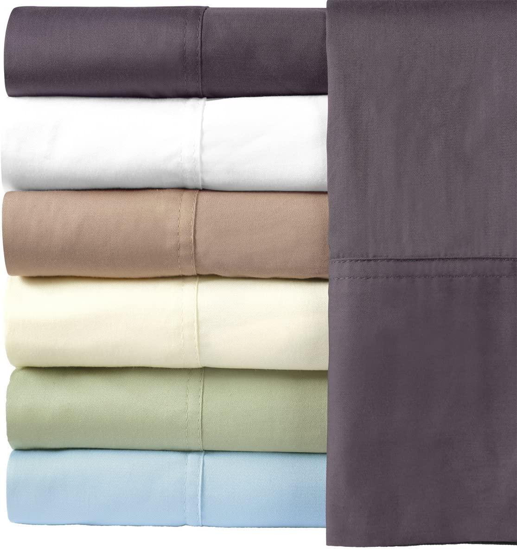 Royal Hotel Silky Soft Bamboo Cotton Pillow-Cases, 100% Bamboo-Cotton Pillowcases, King Size, Blue