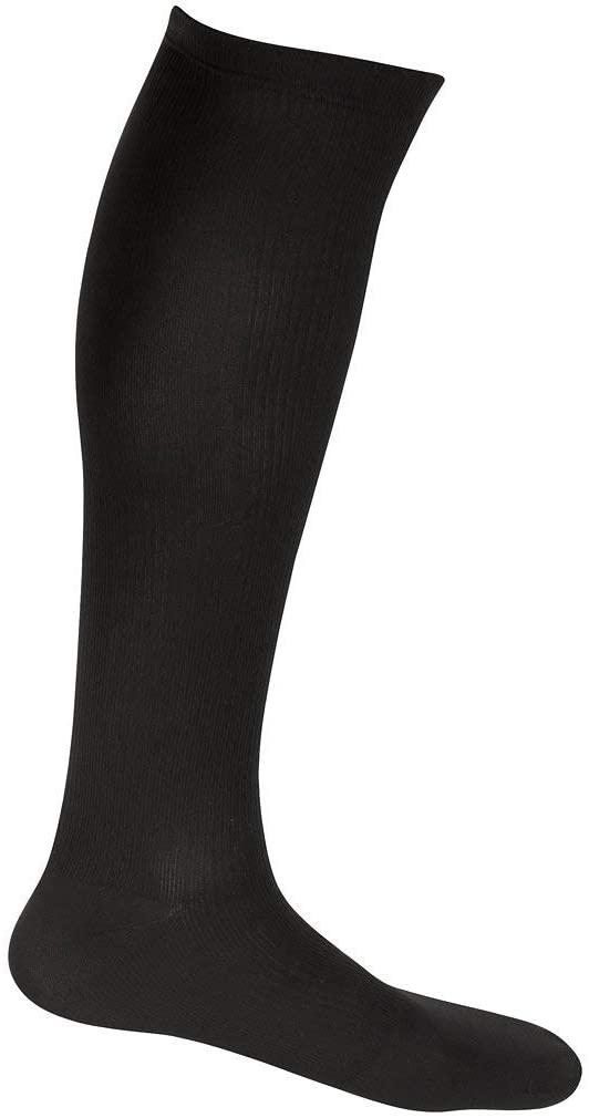 EvoNation Men's USA Made Graduated Compression Socks 8-15 mmHg Mild Pressure Medical Quality Knee High Orthopedic Support Stockings Hose - Best Comfort Fit, Circulation, Travel (Medium, Brown)