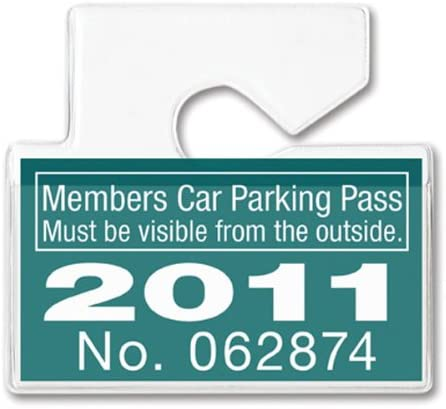 100 Clear Rigid Vinyl Horizontal Vehicle Hang Tag Parking Pass Holders by Specialist ID