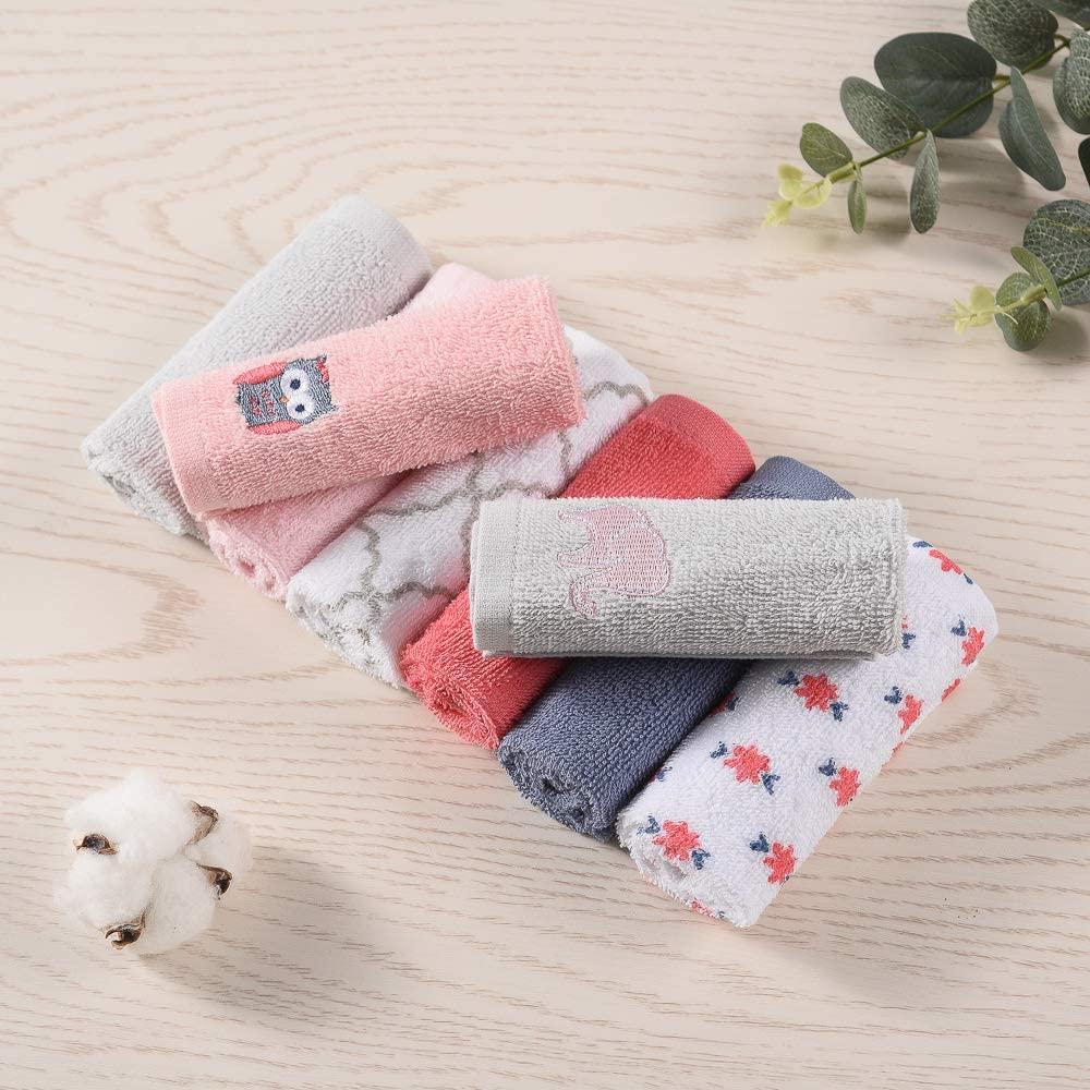 Kids happy Happykids 8-Piece Unisex Baby Super Soft Cotton Washcloths Baby Face Towels (10