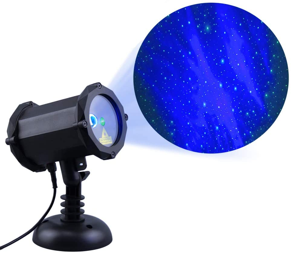 Dalanpa Star Sky Laser Projector Light with LED Blue Aurora Light Christmas Lights Suitable for Bedroom Decoration, Family Party, KTV, Dance Halls, Clubs, Bars, Kids Party, Dance Floor
