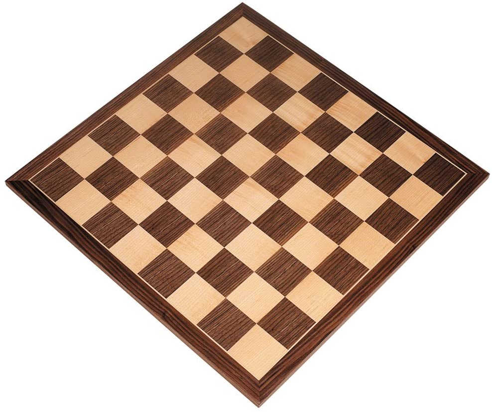 Apollo Extra Thick Tournament Chess Board with Inlaid Walnut and Maple Wood, Extra Large 20 x 20 Inch, Board Only