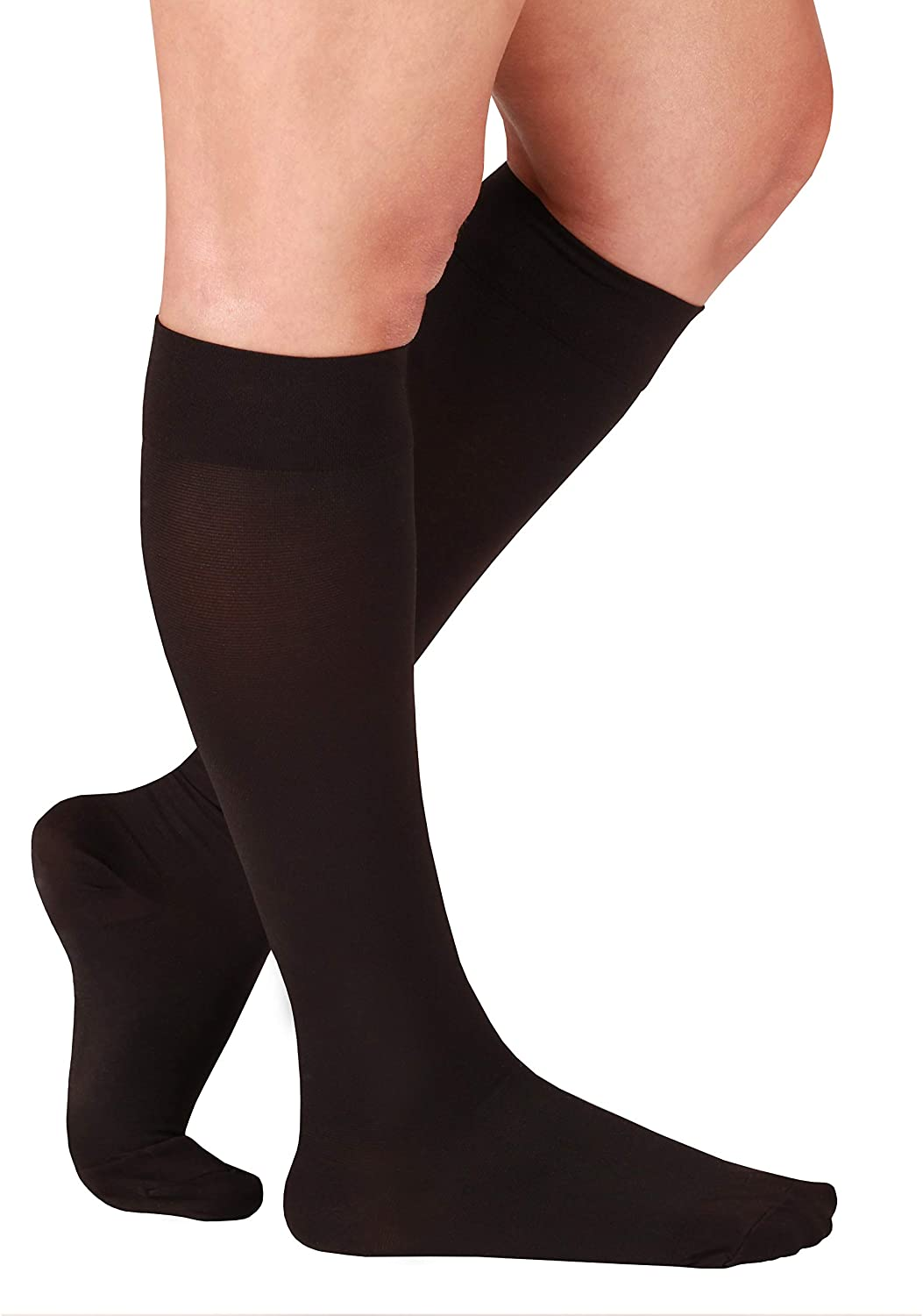 Essentials Compression Socks Made in The USA - Opaque Compression Stockings for Woman - Closed Toe - Support Socks for Men - Firm Support 20-30mmHg - 1 Pair Size XX-Large, Black