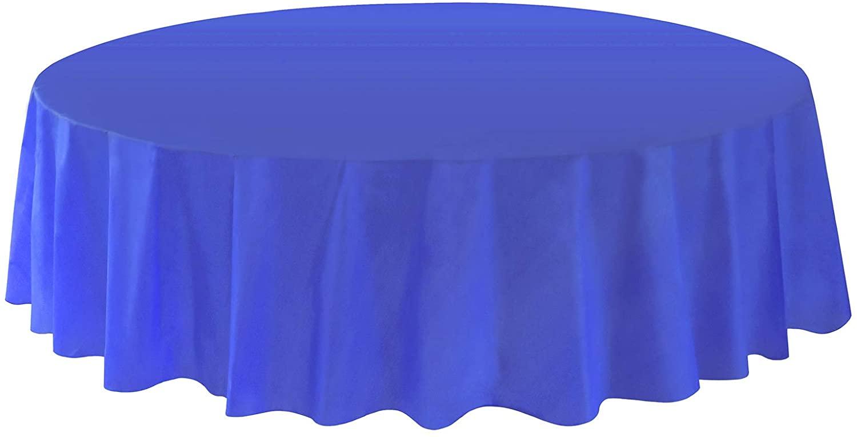 Allgala 12-Pack Premium Plastic Table Cover Medium Weight Disposable Tablecloth-12PK Round 84