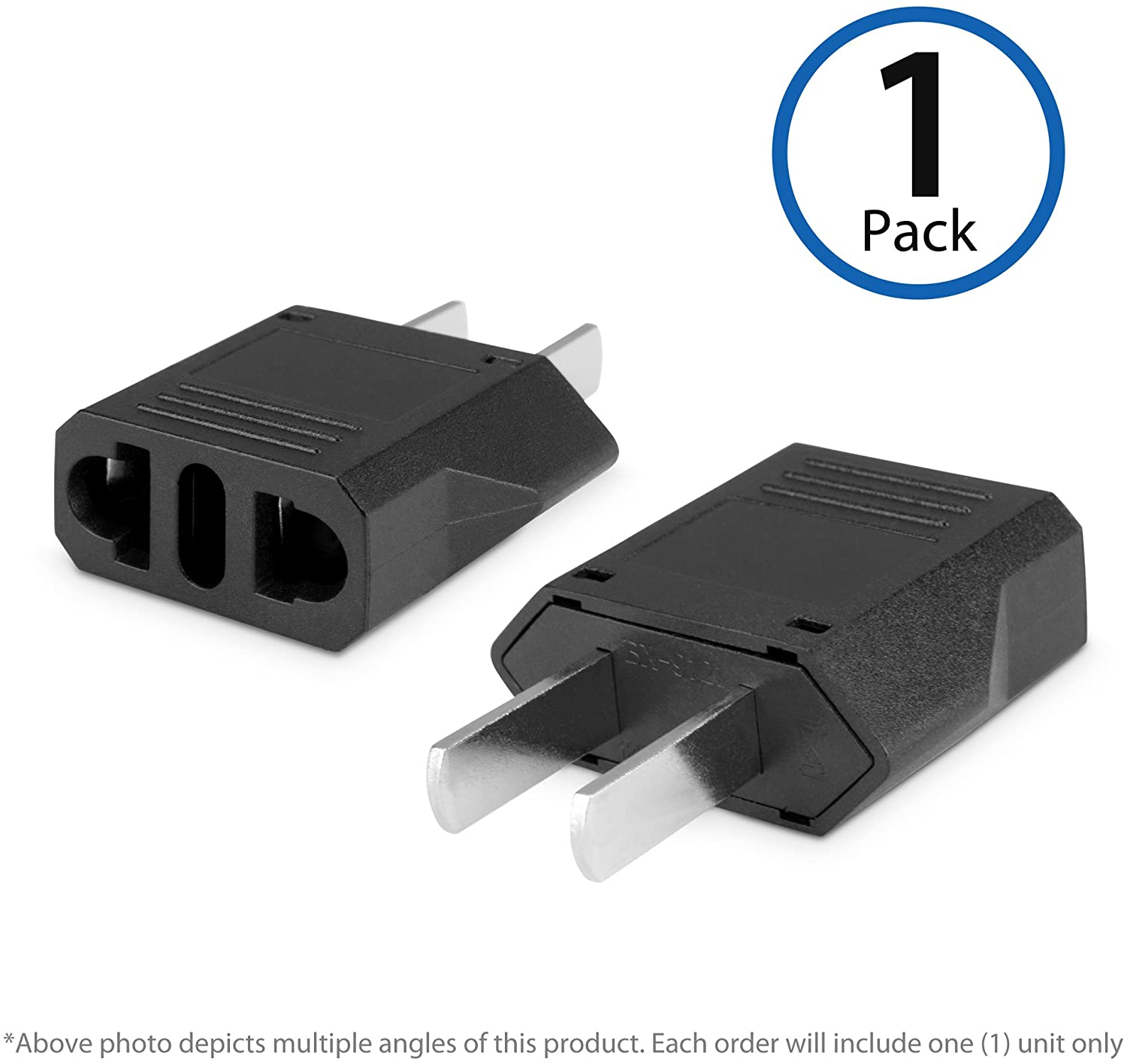 BoxWave European to American Outlet Plug Adapter,Black,Euro to US Adapter - Type B