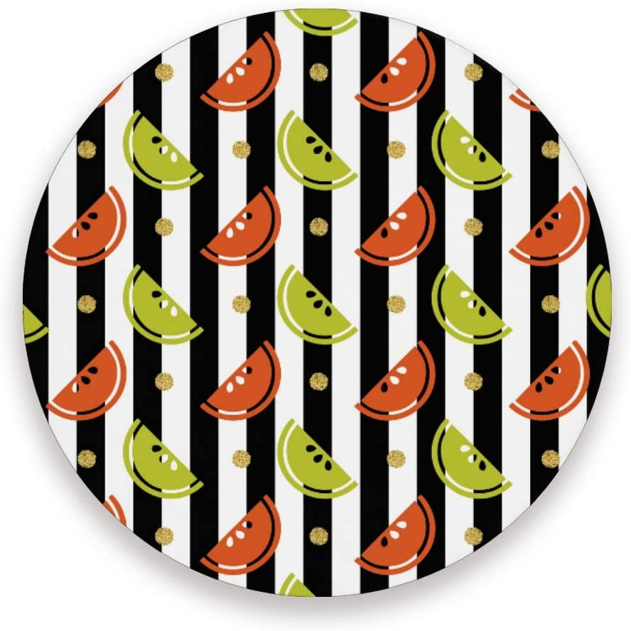 Colourful Fruit With Gold Dot Round Coaster Set Table Coasters
