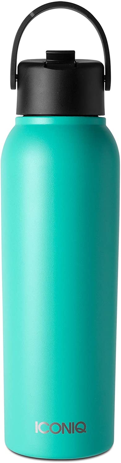 ICONIQ 40 oz X Bottle - Stainless Steel Insulated Water Bottle with Straw Lid