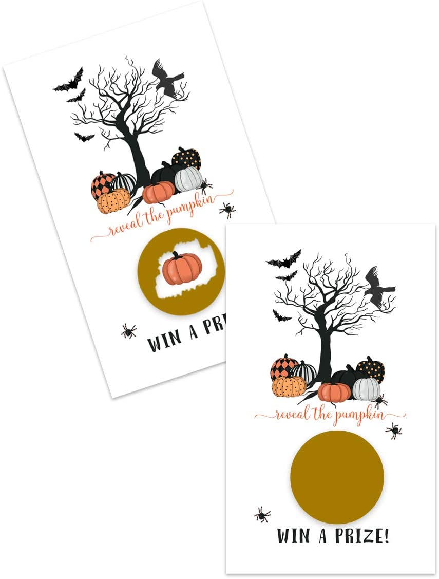 Bewitched Halloween Scratch Off Game Cards ( 28 Pack ) Pumpkin Baby Shower - Spooky Party Supplies - Fall Events - Raffle Tickets for Prizes Adults, Kids and Groups Can Play