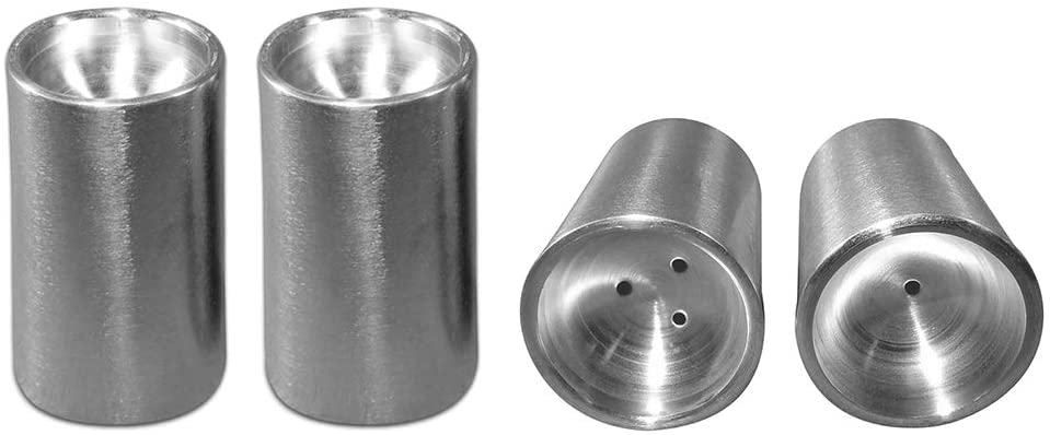 AMCO, Set of 4 - Salt & Pepper Shakers, Stainless Steel, 1