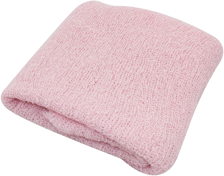 JLIKA Newborn Baby Photography Photo Prop Stretch Wrap (Light Pink)