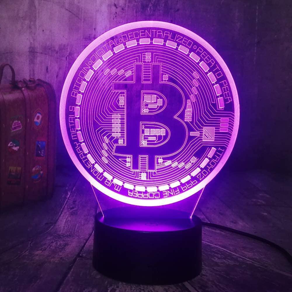 vbgdf 3D Night Light Night Light 3D LED USB RGB Table Desk Lamp Home Decor Display Bulb Boy Toys Birthday Present