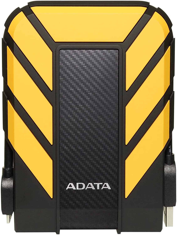 ADATA HD710 Pro 2TB USB 3.1 IP68 Waterproof/Shockproof/Dustproof Ruggedized External Hard Drive, Yellow (AHD710P-2TU31-CYL)