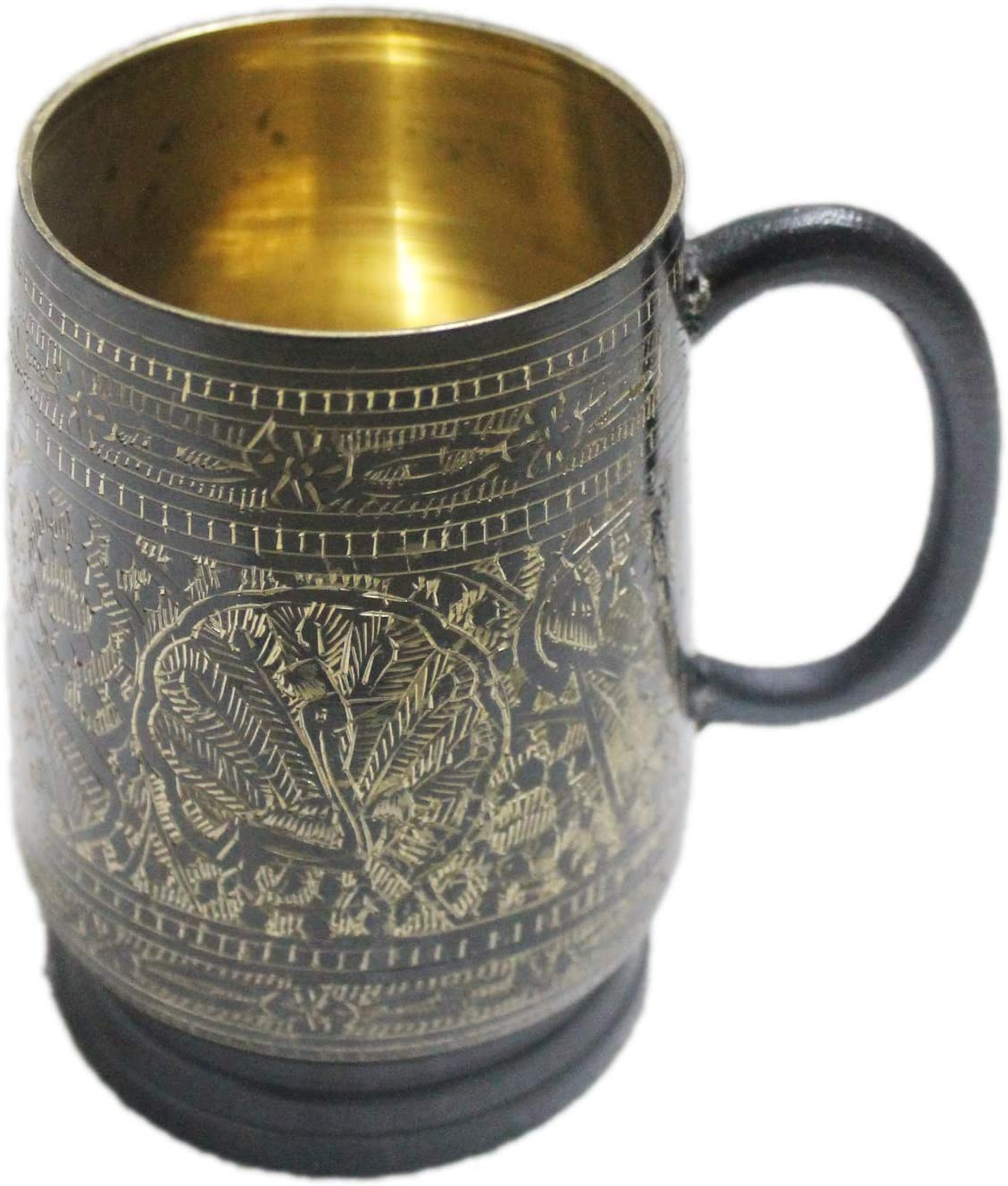 Unique tankard look handmade pure brass beer stein capacity 18 oz moscow mules mugs