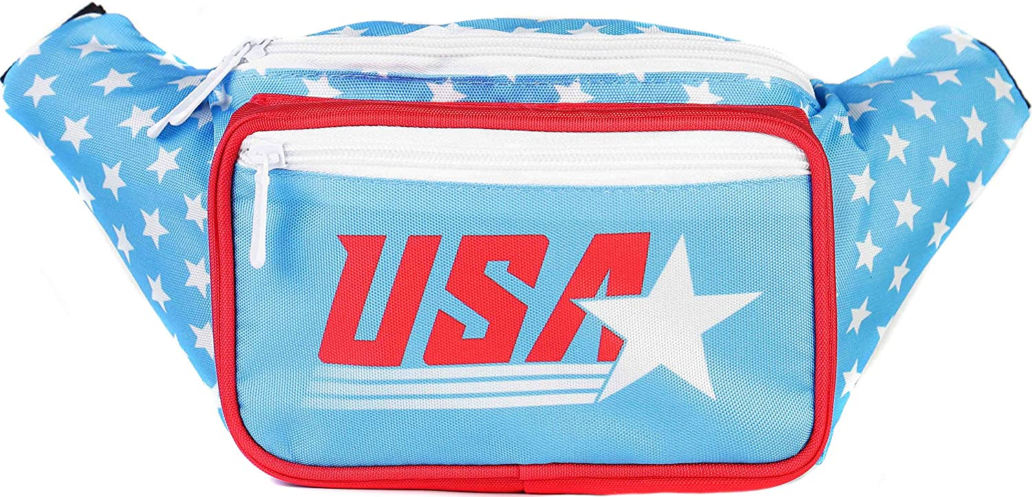SoJourner Bags Fanny Pack - Retro USA American Flag