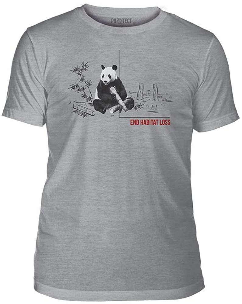 The Mountain End Habitat Loss Triblend Unisex T-Shirt - Habitat Panda - Grey, 2XL
