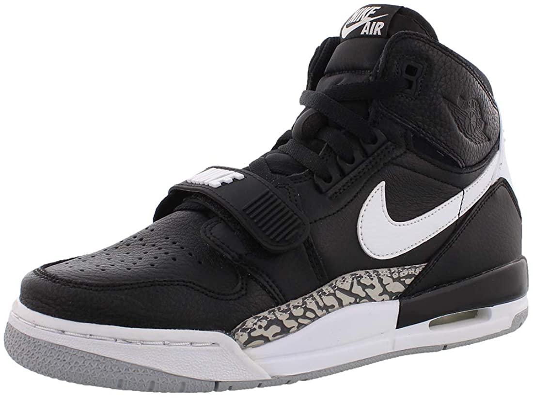 Nike Kids Air Jordan Legacy 312 Basketball Sneaker (Black/White, 6 Big Kid)