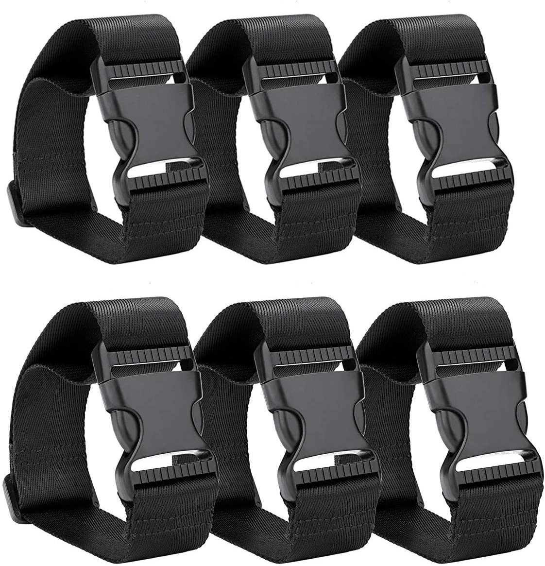 Add a Bag Luggage Strap,Adjustable Suitcase Belt Hook Straps Accessories for Travel and Trip by JEDE (6 Pack)