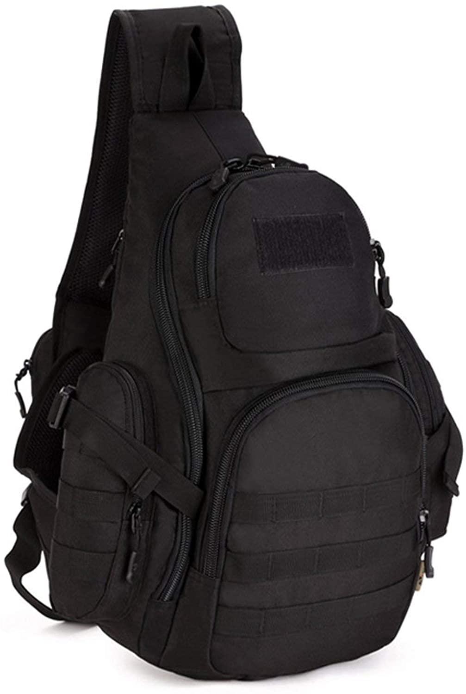 Huntvp Tactical Sling Backpack Military Daypack Molle Chest Shoulder Bag