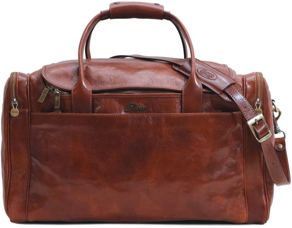 Floto Leather Cargo Duffle Bag Carryon Travel Bag Large