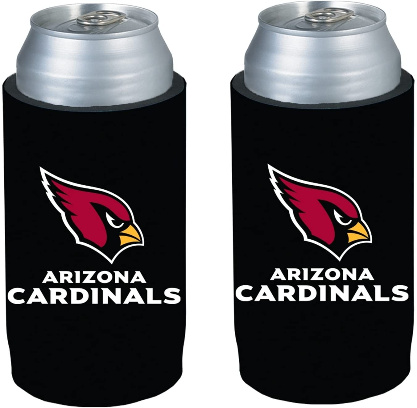 NFL Football Team Logo Ultra Slim Beer 12oz Can Holder Coolers - 2-Pack