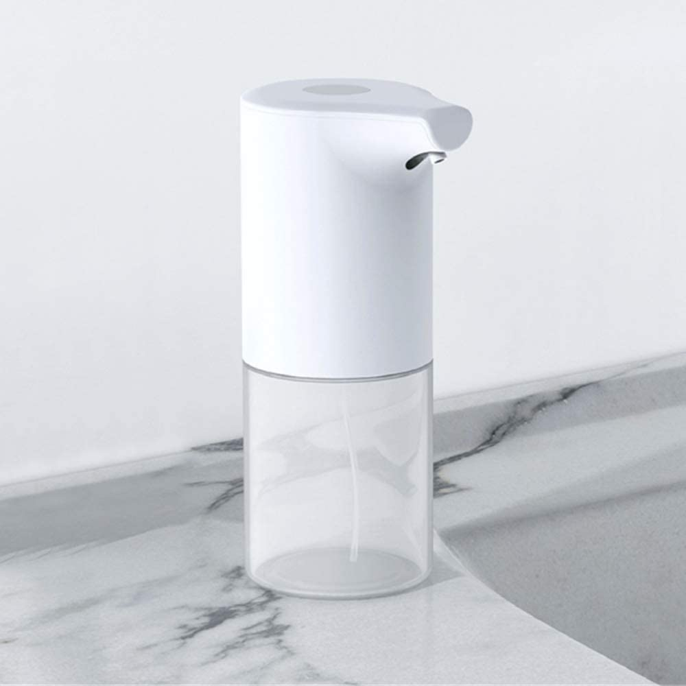 UPEOR Automatic Soap Dispenser Foaming 11oz/320ml Infrared Motion Sensor Premium Touchless Battery Operated Electric Automatic Foam Soap Dispenser(White Waterproof)
