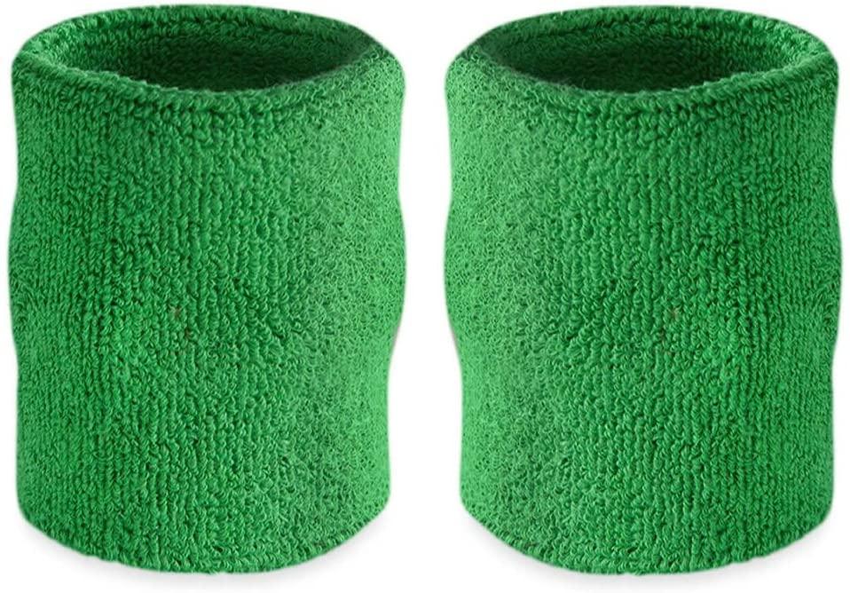 Suddora 4 Inch Arm Sweatbands - Thick Cotton Armbands for Gymnastics, Basketball, Tennis, Football