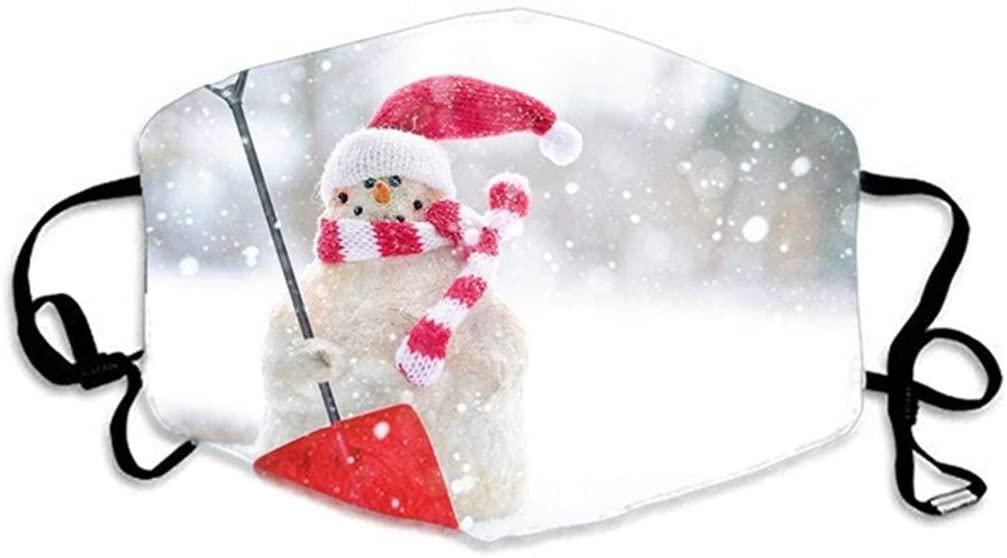 Walsent 1PC Unisex Adults Cartoon Christmas Santa Adjustable Face Bandanas Protective for Xmas Stay Safe, Reusable and Breathable
