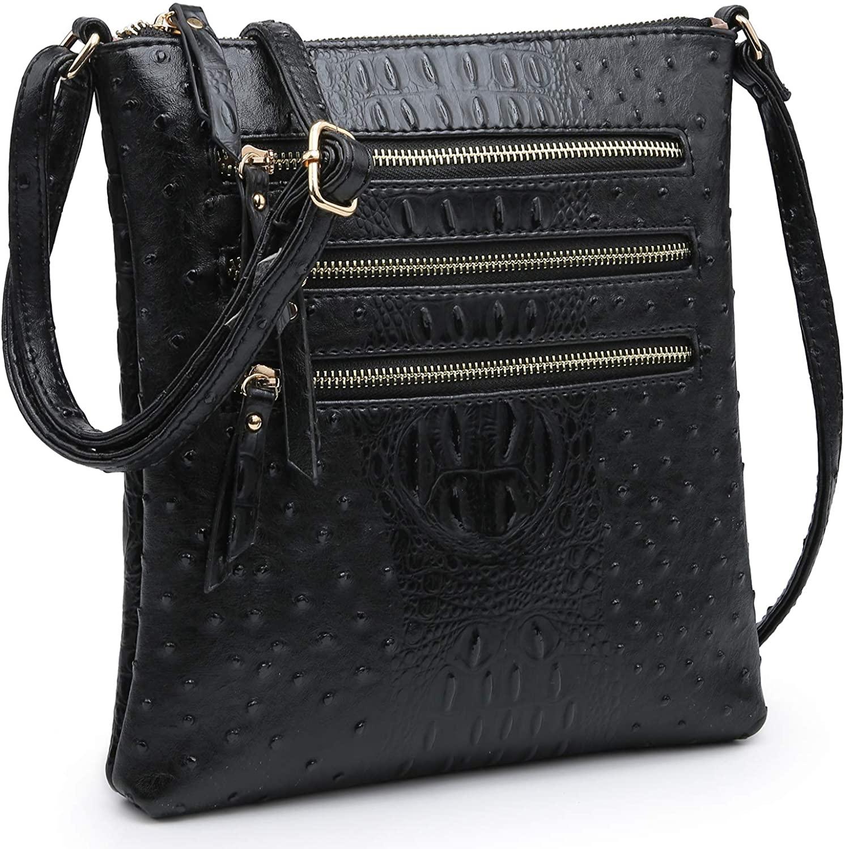 Dasein Women Functional Multi Pocket Crossbody Bag Lightweight Travel Shoulder Bag