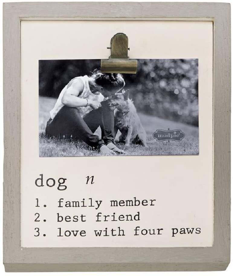 Mud Pie Dog Definition Binder Clip Frame