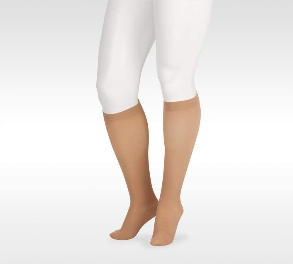 Juzo Soft 2002 Knee-High 30-40mmhg Compression Silicone Band Closed Toe Stocking