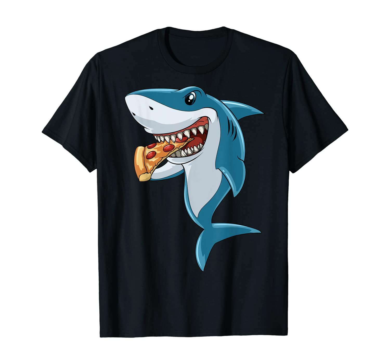 Shark Eating Pizza Shark Lovers Pizza Lovers T-Shirt