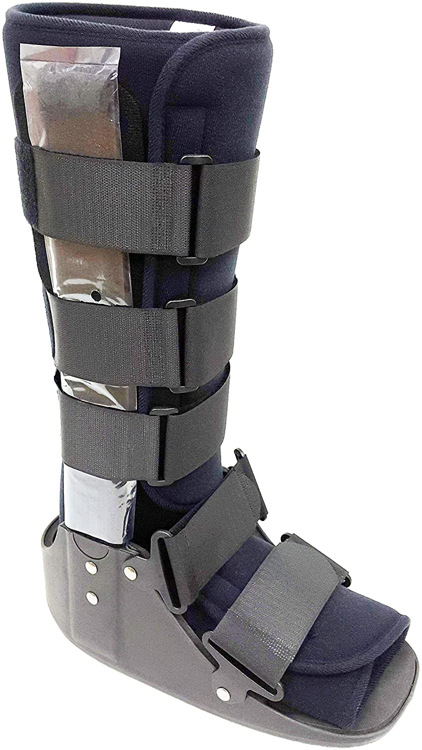 Fixed Cam Fracture Walker Boot with Metal Uprights for Sprains and Fractures, Knee Height (Large)