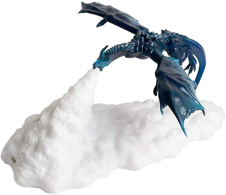 Primst 3D Printed Volcano Dragon Lamps,Night Light Moon Light,Desktop Lamp for Bedroom Office Children Gifts (blue)