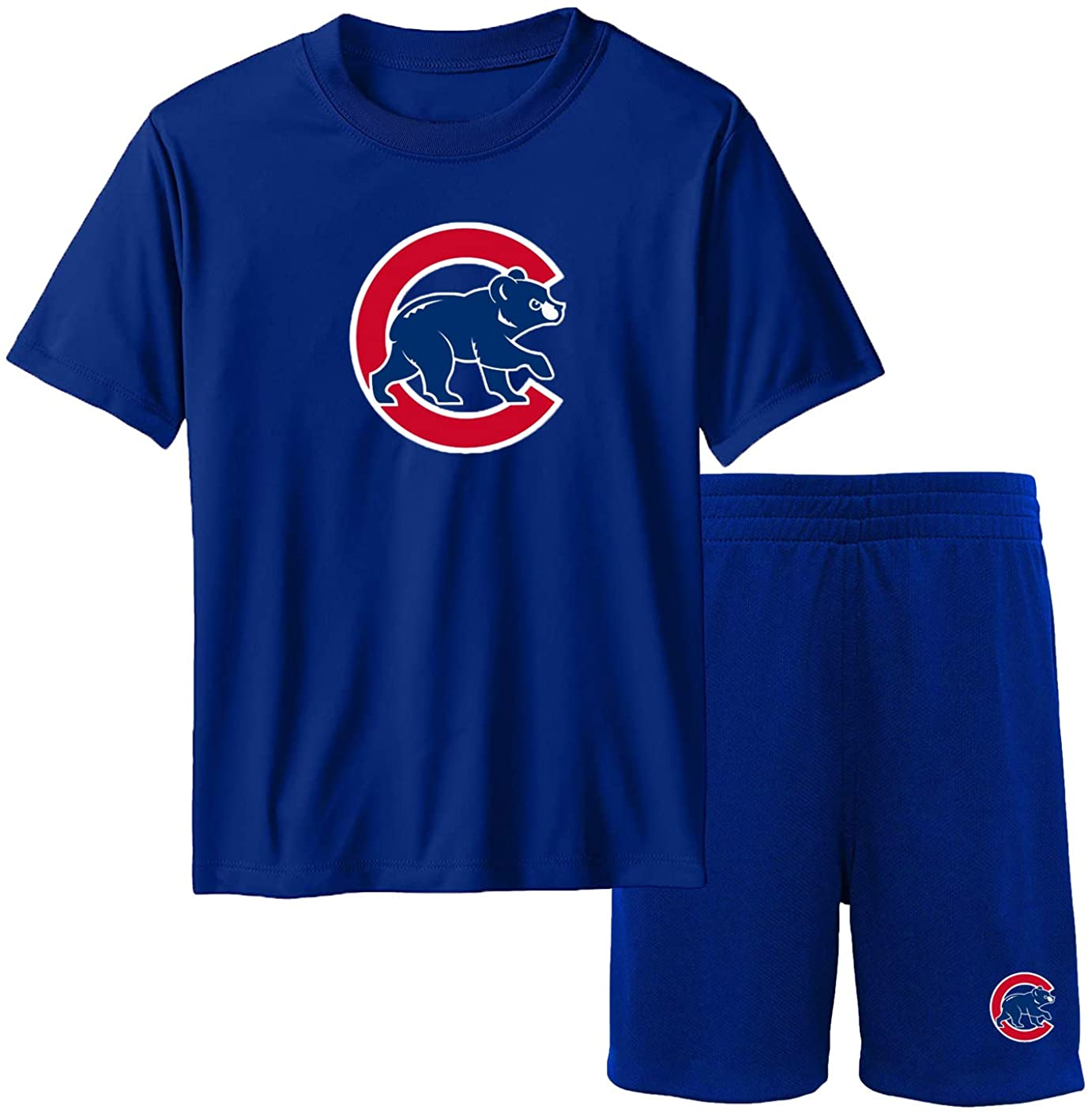 Outerstuff MLB Youth 8-20 Team Color Performance Primary Logo T-Shirt & Shorts Set