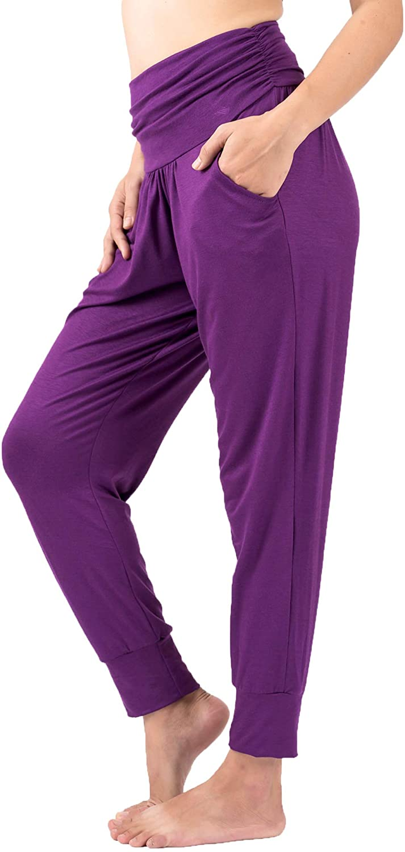 LOFBAZ Yoga Sweatpants with Pockets Workout Joggers Pants Lounge Harem Pants