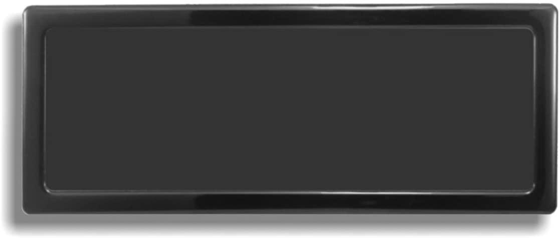 DEMCiflex Computer Dust Filter, 3 x 80mm ID Rectangle, Black Frame/Black Mesh