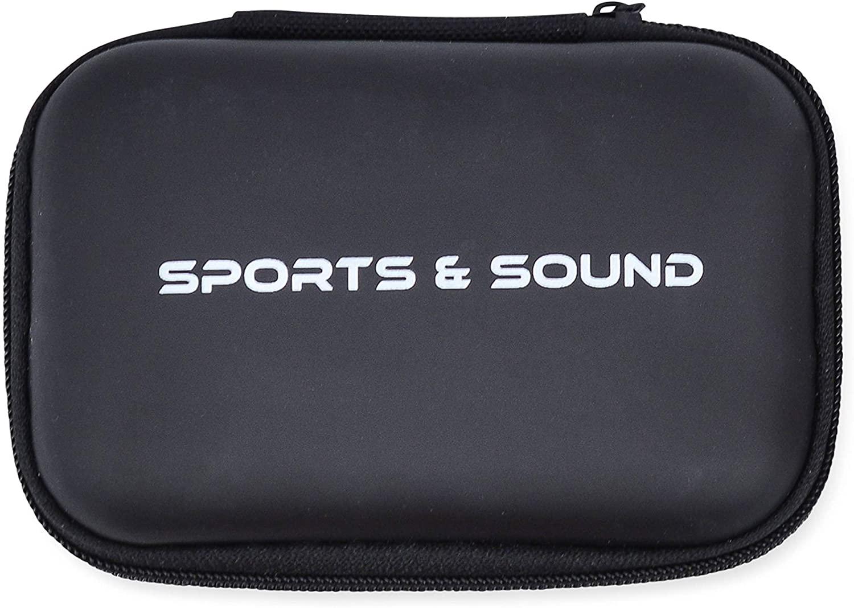 Portable Hard Shell EVA Case, Mesh Interior, Zipper Enclosure, Lightweight, Universal Carrying Bag Charger, Bluetooth, Phone, Headphones (Black)